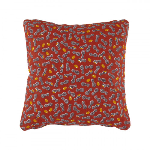 Cacahuetes outdoor kussen - 44x44 cm - Ocre rouge